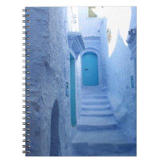 Morocco, Chefchaouen, The Blue City Spiral Notebook