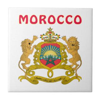 Morocco Coat Of Arms Ceramic Tile