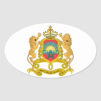 Morocco Coat of Arms Oval Sticker
