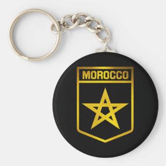 Morocco Emblem Basic Round Button Keychain