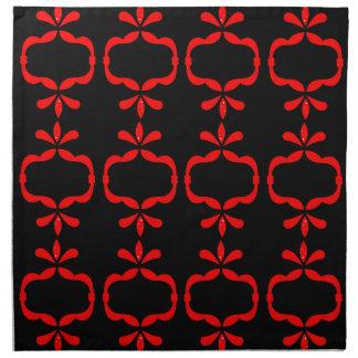 MOROCCO ETHNO RED BLACK PATTERN NAPKIN