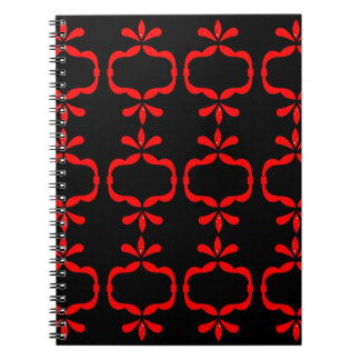 MOROCCO ETHNO RED BLACK PATTERN NOTEBOOKS