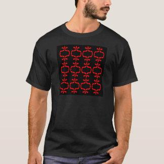 MOROCCO ETHNO RED BLACK PATTERN T-Shirt
