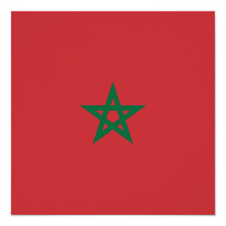 Morocco Flag Card