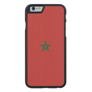 Morocco Flag Carved Maple iPhone 6 Case