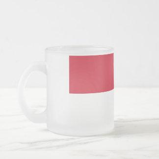 Morocco Flag Frosted Glass Coffee Mug