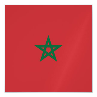 Morocco Flag Magnetic Card