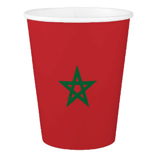 Morocco Flag Paper Cup