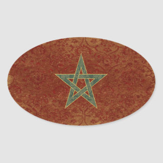 Morocco Flag Stickers