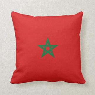 Morocco Flag x Flag Pillow