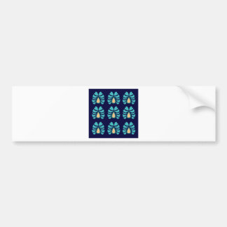 MOROCCO FOLK FLOWERS HAND PAINTED BUMPER STICKER