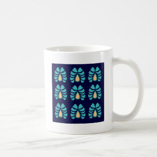 MOROCCO FOLK FLOWERS HAND PAINTED COFFEE MUG