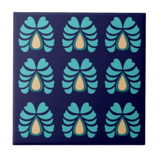 MOROCCO FOLK FLOWERS HAND PAINTED TILE
