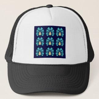 MOROCCO FOLK FLOWERS HAND PAINTED TRUCKER HAT