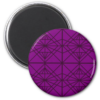 Morocco Geometric luxury Art / Crystal edition 2 Inch Round Magnet