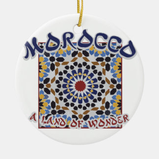 Morocco Land Of Wonder Round Ceramic Ornament