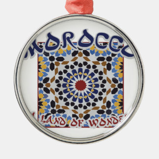 Morocco Land Of Wonder Silver-Colored Round Ornament