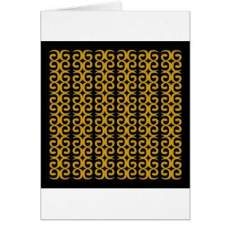 MOROCCO LUXURY GOLD ETHNO SPIRALS CARD