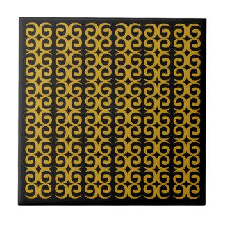 MOROCCO LUXURY GOLD ETHNO SPIRALS CERAMIC TILE