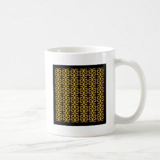 MOROCCO LUXURY GOLD ETHNO SPIRALS COFFEE MUG