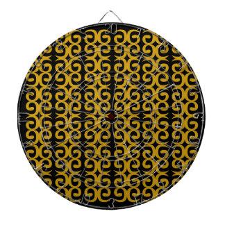 MOROCCO LUXURY GOLD ETHNO SPIRALS DARTBOARD