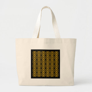 MOROCCO LUXURY GOLD ETHNO SPIRALS LARGE TOTE BAG