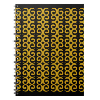 MOROCCO LUXURY GOLD ETHNO SPIRALS NOTEBOOK