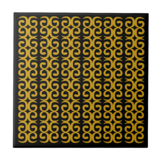 MOROCCO LUXURY GOLD ETHNO SPIRALS TILE