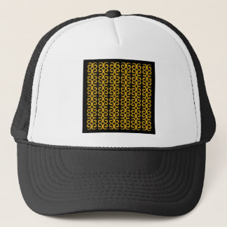 MOROCCO LUXURY GOLD ETHNO SPIRALS TRUCKER HAT