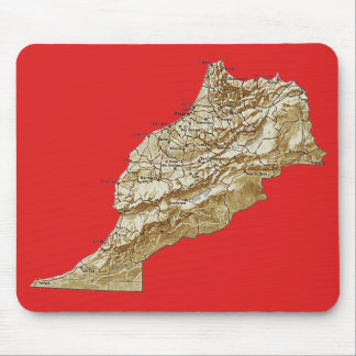 Morocco Map Mousepad
