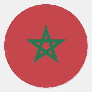 Morocco/Moroccan Flag Classic Round Sticker