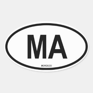 Morocco Oval Sticker