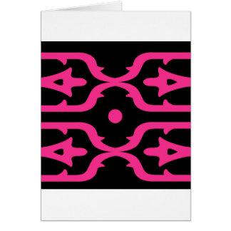 MOROCCO PINK BLACK ETHNO SUMMER CARD