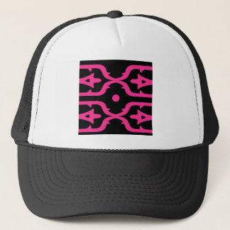 MOROCCO PINK BLACK ETHNO SUMMER TRUCKER HAT