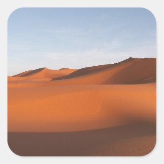 Morocco sand desert, northwestern Africa Square Sticker