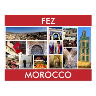 morocco scenes fes postcard