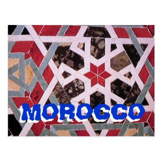 Morocco siteseeing postcard