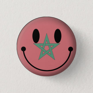 Morocco Smiley 1 Inch Round Button