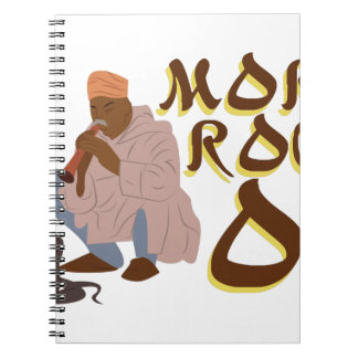Morocco Snake Charmer Spiral Note Books
