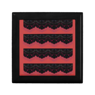 MOROCCO VINTAGE HANDDRAWN LACE BLACK RED GIFT BOX