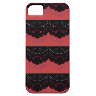 MOROCCO VINTAGE HANDDRAWN LACE BLACK RED iPhone 5 COVER
