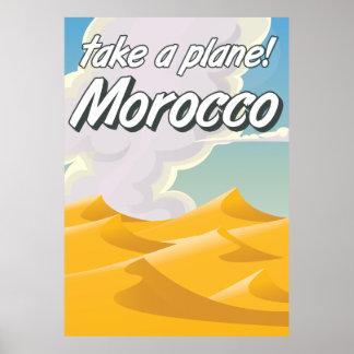 Morocco vintage travel poster
