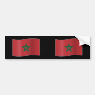 Morocco waving, Morocco Bumper Sticker
