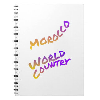 Morocco world country,  colorful text art note book
