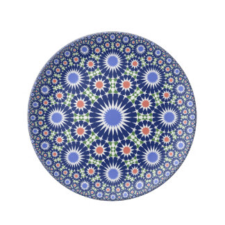 Moroccoan vintage fes ceramic porcelain plate