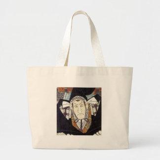 Moronao, Villian of Kabuki play Chusingura, Kumisa Canvas Bags