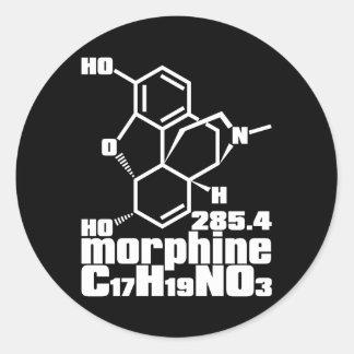 morphine classic round sticker