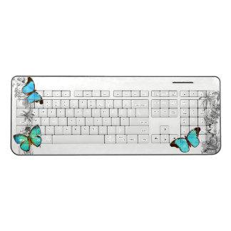Morpho Butterflies Garden Wireless Keyboard