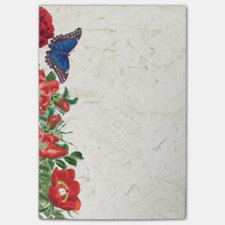 Morpho Butterflies Rose Flowers Floral Post Its Post-it® Notes