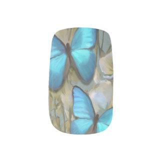 Morpho Butterflys Nails Sticker